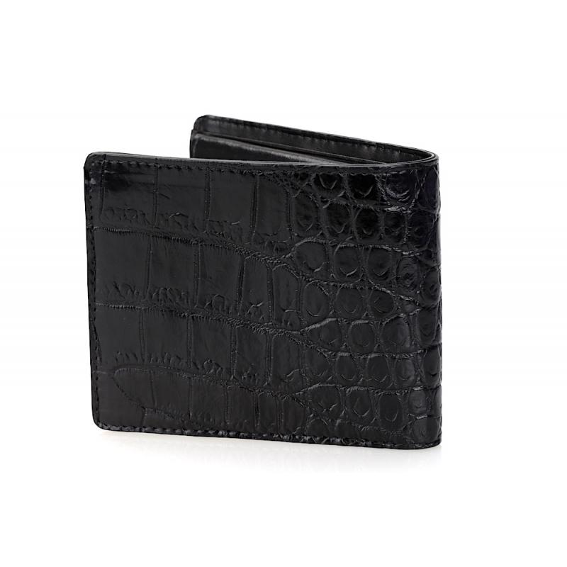 Мужской бумажник из натуральной кожи крокодила