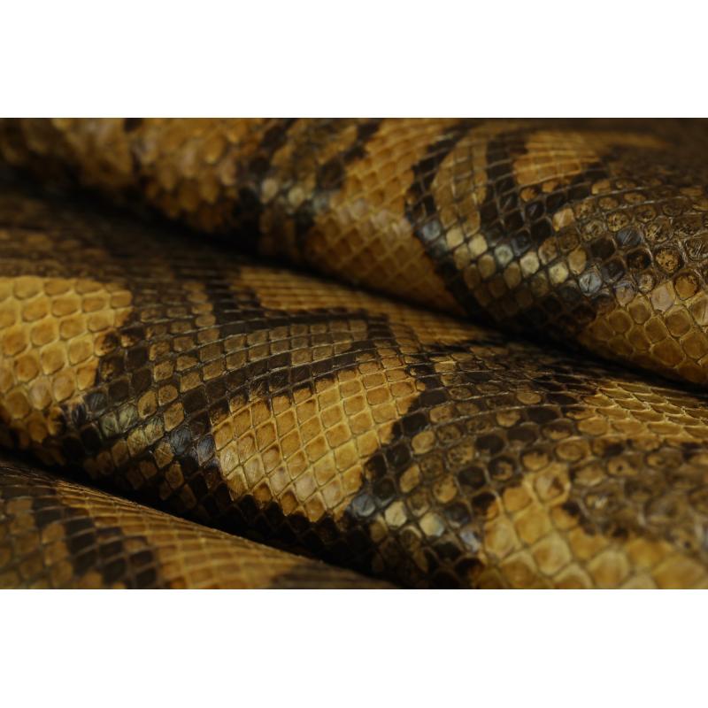 Кожа питона, цвет тигровый светло-коричневый