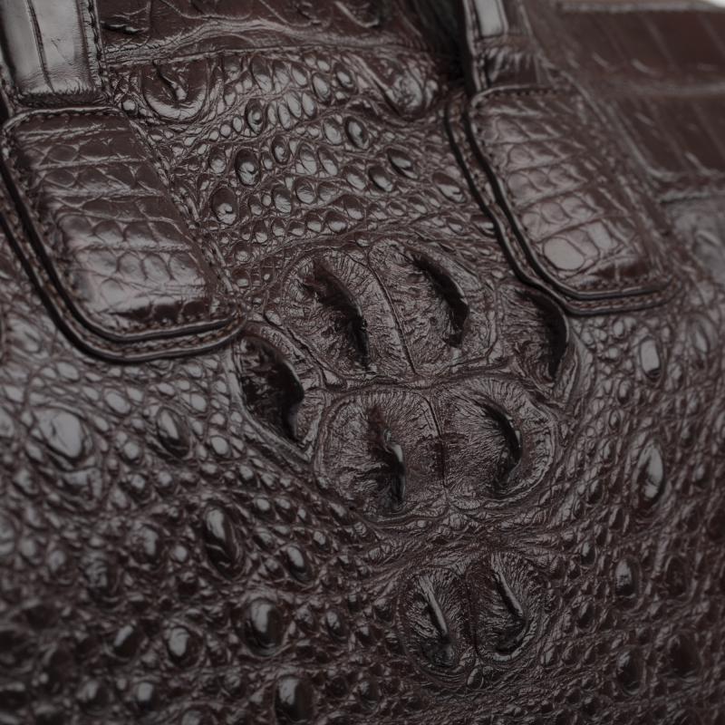 Женская большая сумка из кожи крокодила, формат А4