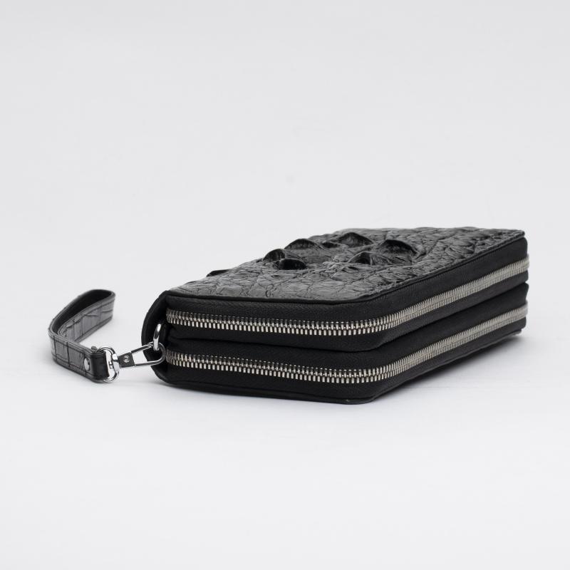 Кошелек-клатч из кожи крокодила