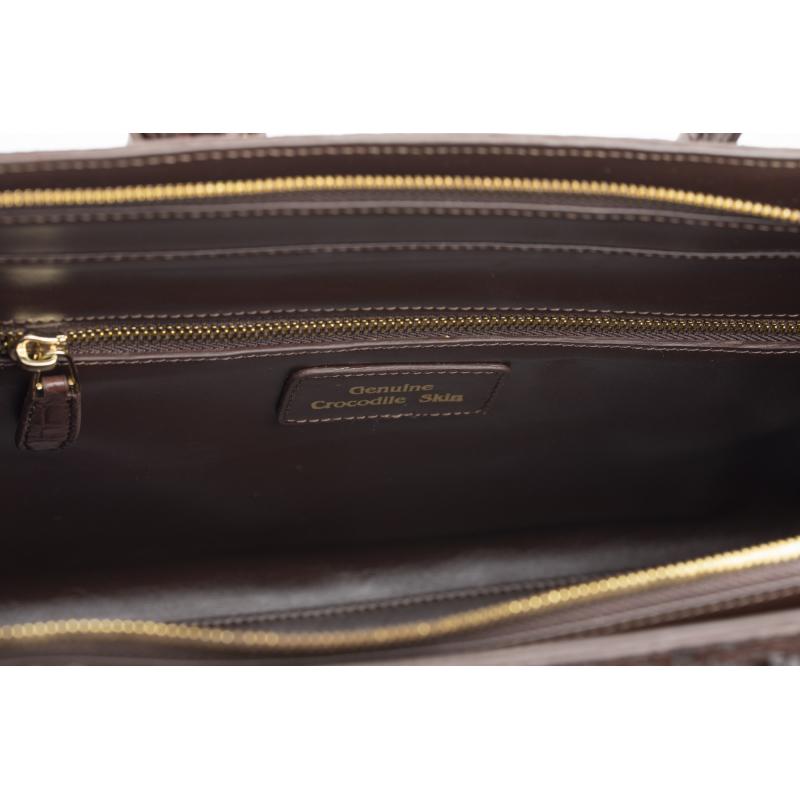Женская коричневая сумка из крокодиловой кожи, реплика Birkin
