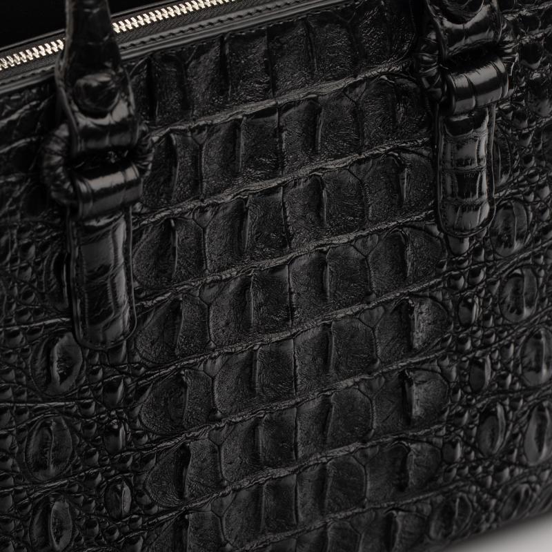Сумка из кожи крокодила черная