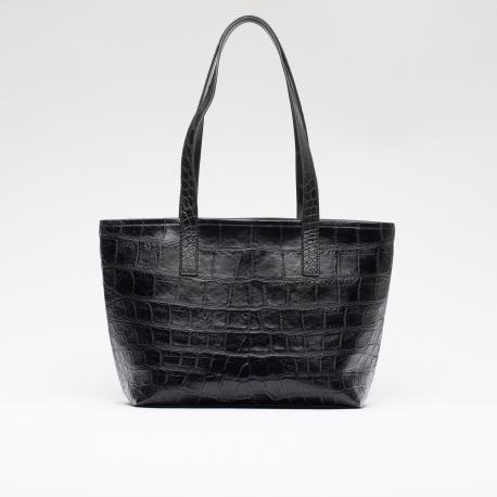 Шоппер сумка из кожи крокодила