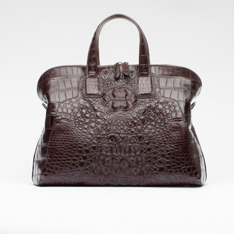 Женская сумка из кожи крокодила формата А4